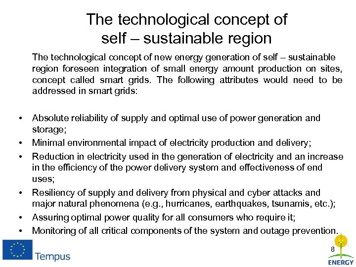 The technological concept of self – sustainable region The technological concept of new energy