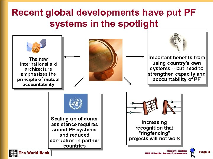 Recent global developments have put PF systems in the spotlight The new international aid