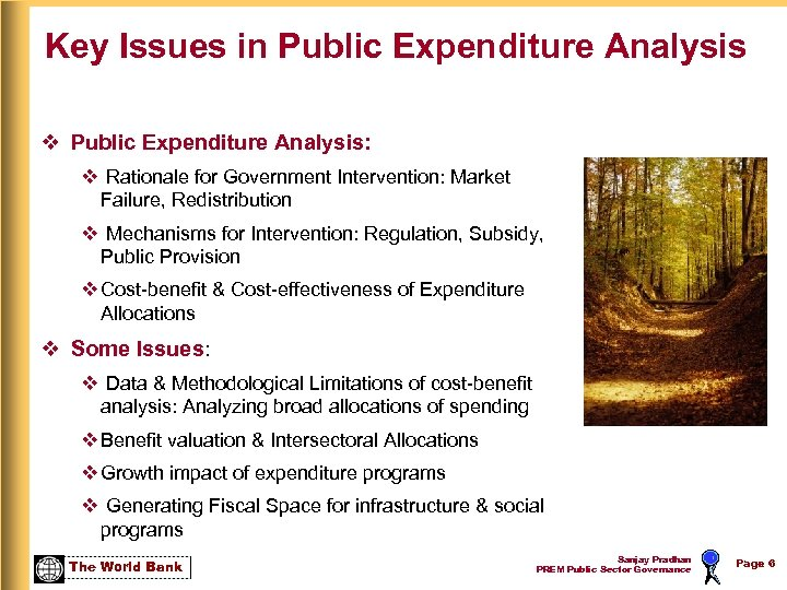 Key Issues in Public Expenditure Analysis v Public Expenditure Analysis: v Rationale for Government