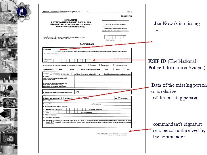 Jan Nowak is missing . . KSIP ID (The National Police Information System) Data