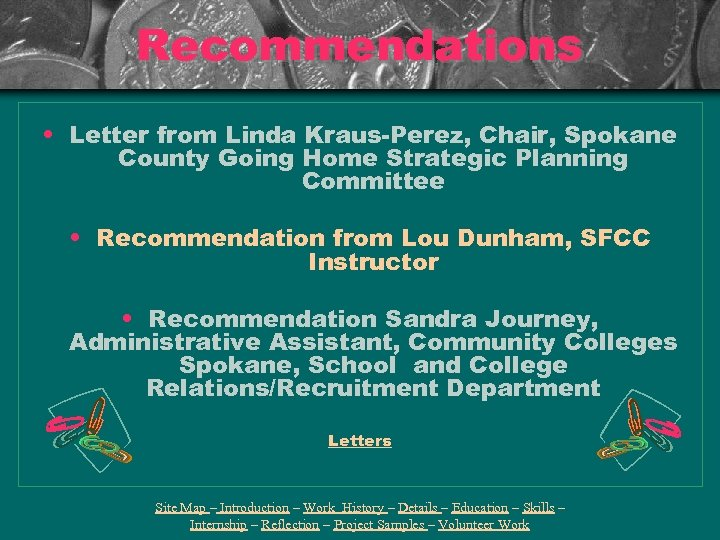 Recommendations • Letter from Linda Kraus-Perez, Chair, Spokane County Going Home Strategic Planning Committee