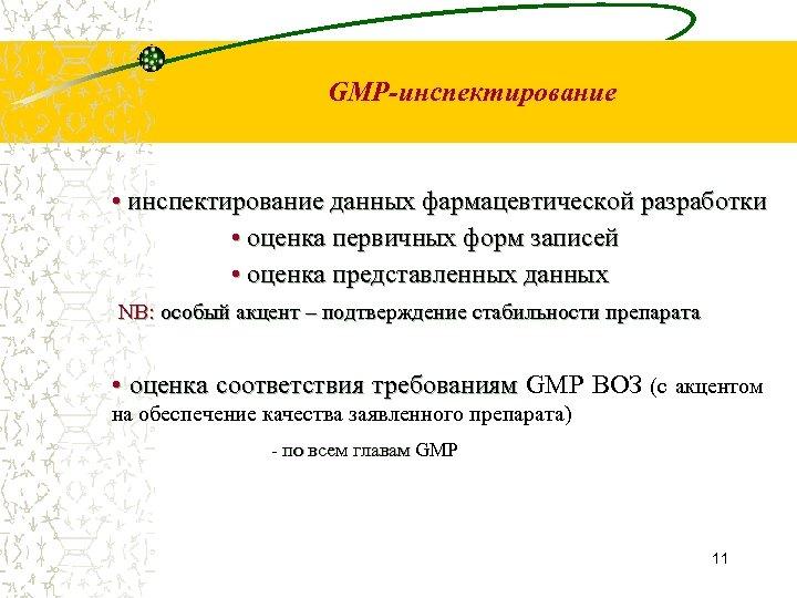 GMP-инспектирование • инспектирование данных фармацевтической разработки • оценка первичных форм записей • оценка представленных