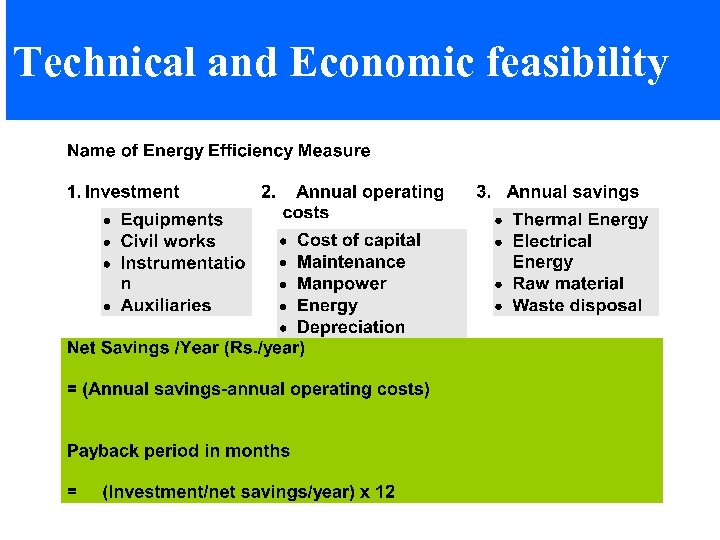 Technical and Economic feasibility