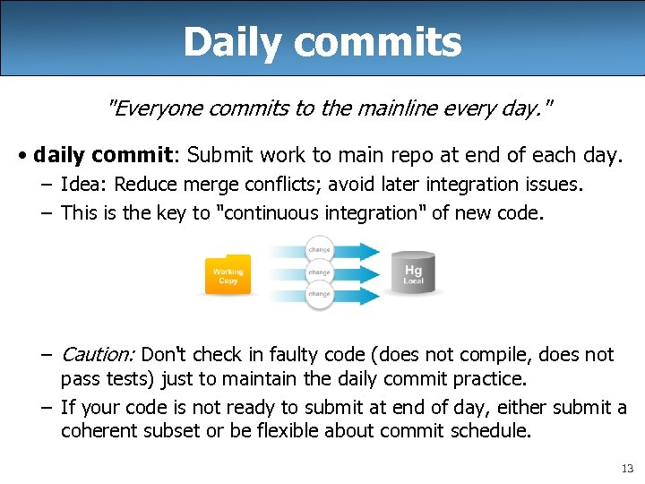 Daily commits