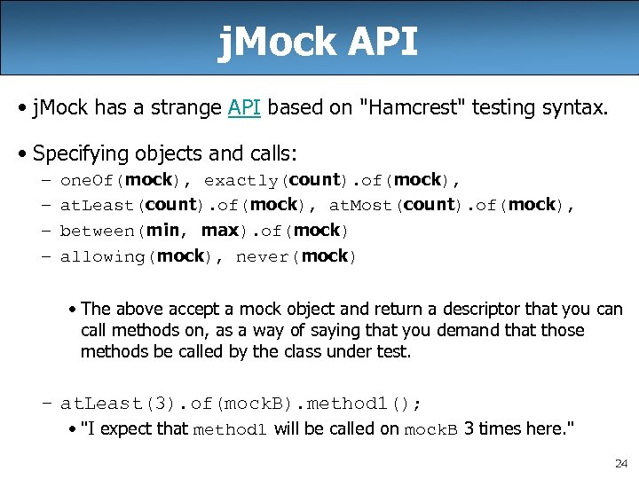 j. Mock API • j. Mock has a strange API based on