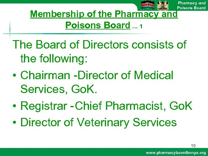 Pharmacy and Poisons Board Membership of the Pharmacy and Poisons Board … 1 The