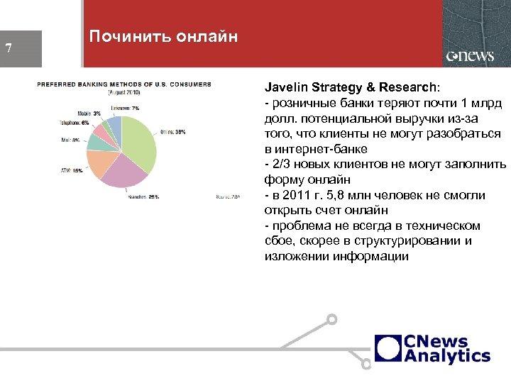 Починить онлайн 7 Javelin Strategy & Research: - розничные банки теряют почти 1 млрд