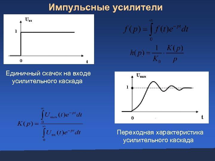 Импульсные усилители Единичный скачок на входе усилительного каскада Переходная характеристика усилительного каскада