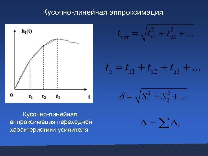 Кусочно-линейная аппроксимация переходной характеристики усилителя
