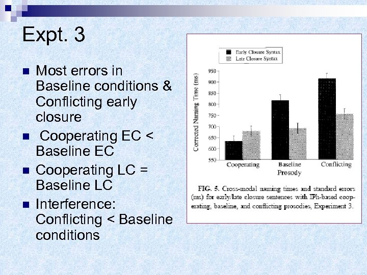 Expt. 3 n n Most errors in Baseline conditions & Conflicting early closure Cooperating