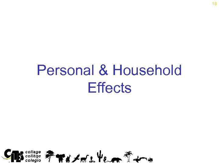 18 Personal & Household Effects