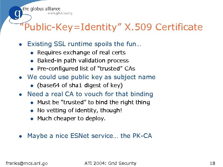 """Public-Key=Identity"" X. 509 Certificate l Existing SSL runtime spoils the fun… u u u"
