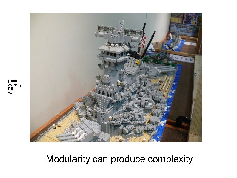 photo courtesy Bill Ward Modularity can produce complexity