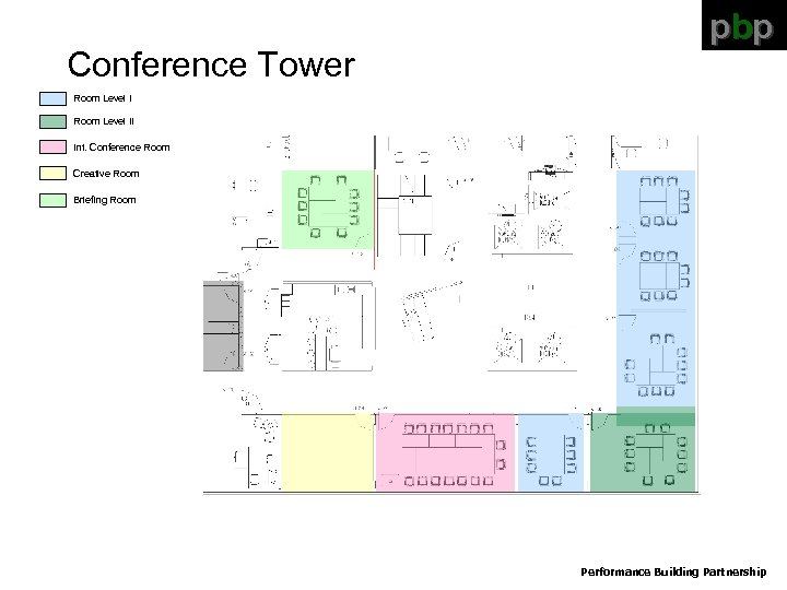 Conference Tower pbp Room Level II Int. Conference Room Creative Room Briefing Room Performance