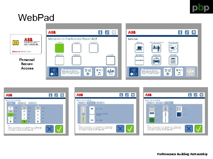 Web. Pad pbp Personal Secure Access Performance Building Partnership