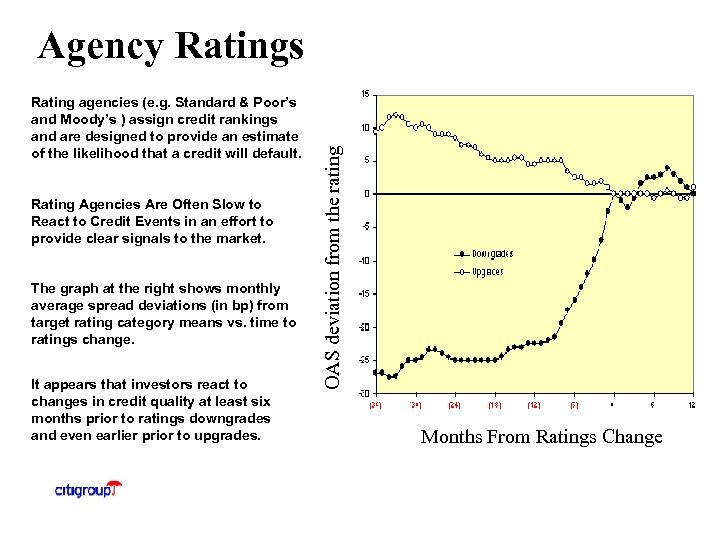 Rating agencies (e. g. Standard & Poor's and Moody's ) assign credit rankings and