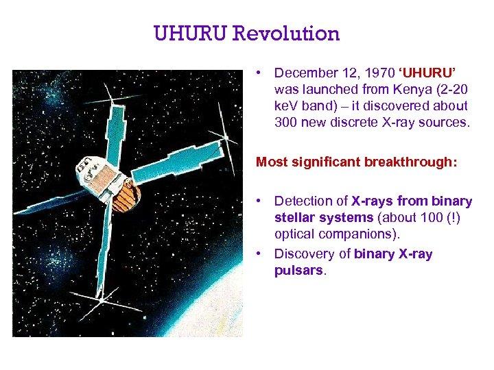UHURU Revolution • December 12, 1970 'UHURU' was launched from Kenya (2 -20 ke.