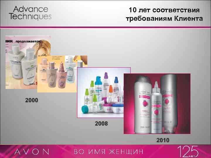 10 лет соответствия требованиям Клиента 2000 2008 2010