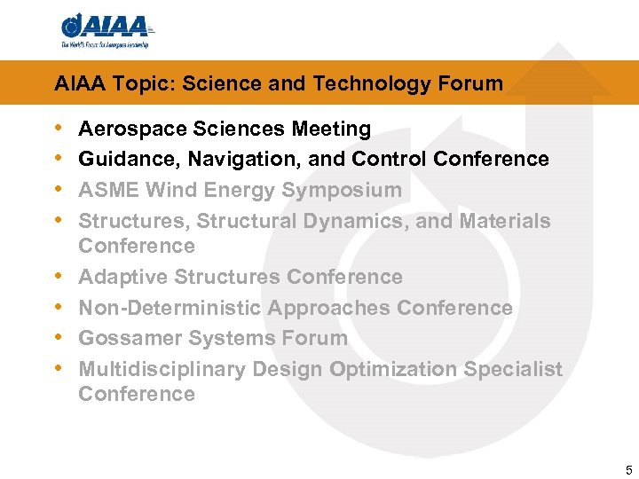 AIAA Topic: Science and Technology Forum • • Aerospace Sciences Meeting Guidance, Navigation, and