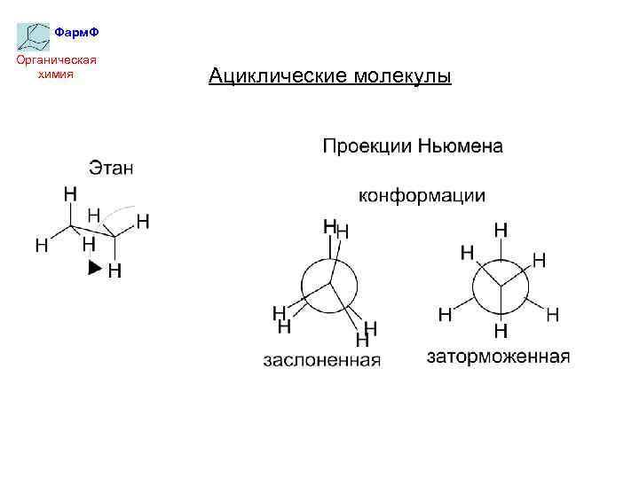 Фарм. Ф Органическая химия Ациклические молекулы