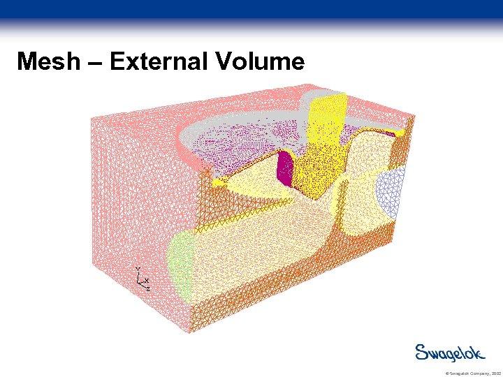 Mesh – External Volume © Swagelok Company, 2002
