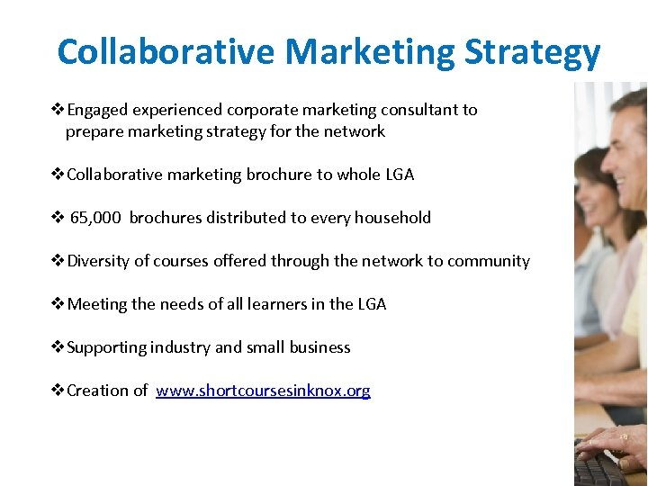Collaborative Marketing Strategy v. Engaged experienced corporate marketing consultant to prepare marketing strategy for
