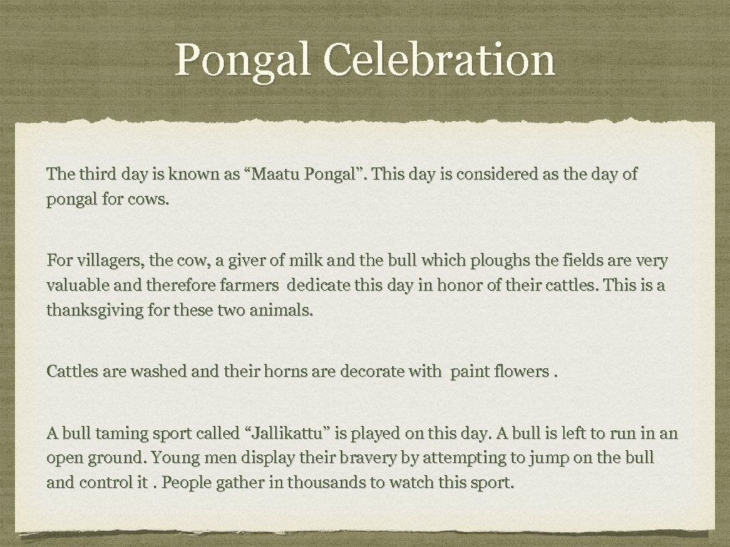 """Pongal Celebration The third day is known as """"Maatu Pongal"""". This day is considered"""