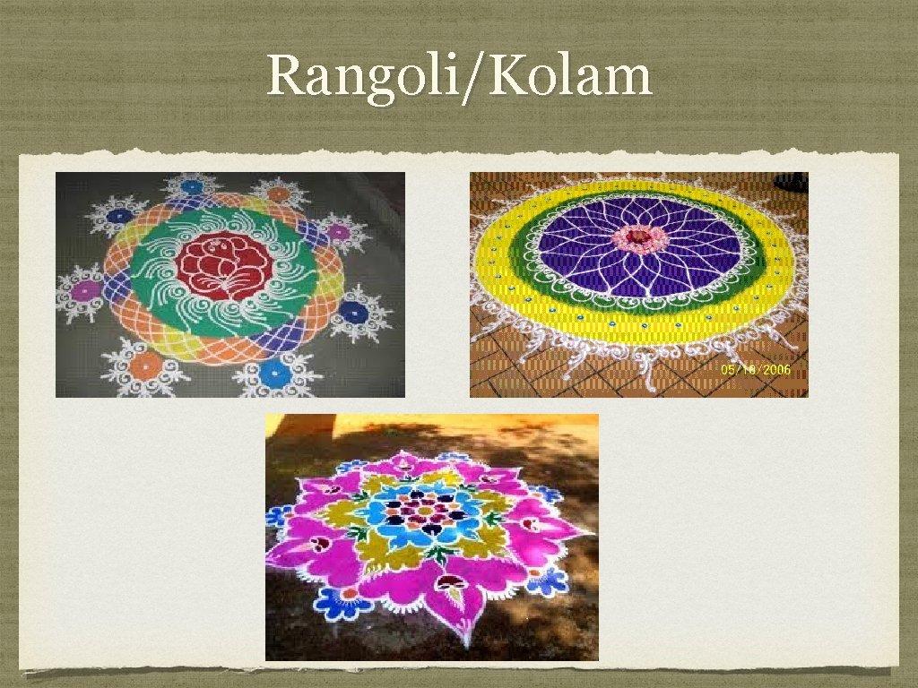 Rangoli/Kolam