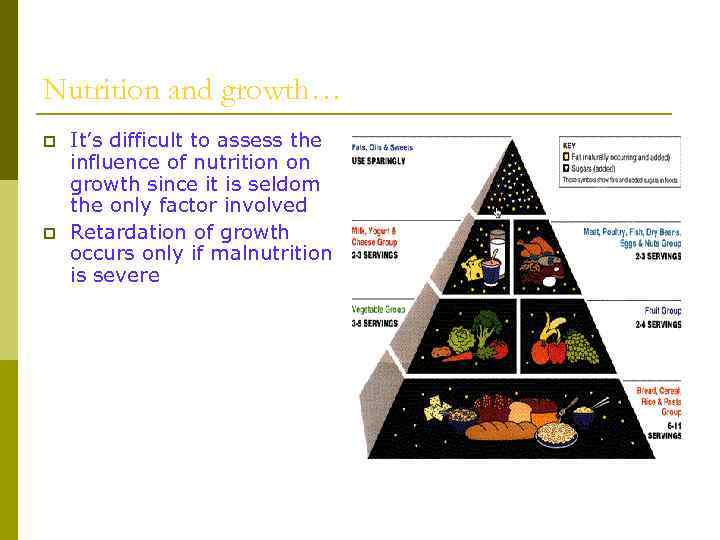 Nutrition and growth… p p It's difficult to assess the influence of nutrition on