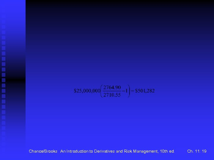 Chance/Brooks An Introduction to Derivatives and Risk Management, 10 th ed. Ch. 11: 19