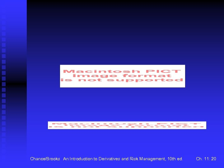 Chance/Brooks An Introduction to Derivatives and Risk Management, 10 th ed. Ch. 11: 20