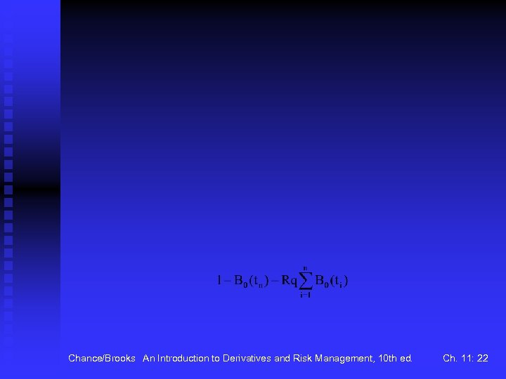 Chance/Brooks An Introduction to Derivatives and Risk Management, 10 th ed. Ch. 11: 22