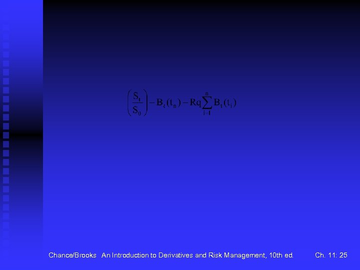 Chance/Brooks An Introduction to Derivatives and Risk Management, 10 th ed. Ch. 11: 25