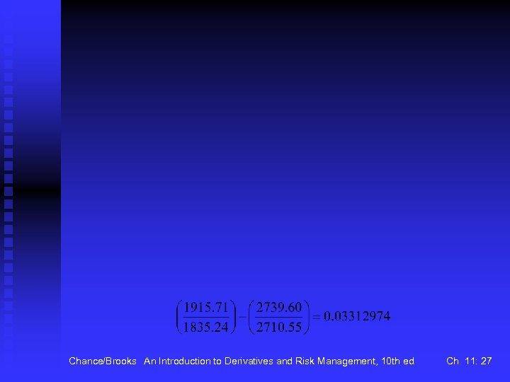 Chance/Brooks An Introduction to Derivatives and Risk Management, 10 th ed. Ch. 11: 27