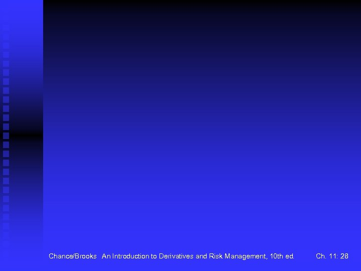 Chance/Brooks An Introduction to Derivatives and Risk Management, 10 th ed. Ch. 11: 28