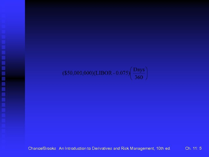Chance/Brooks An Introduction to Derivatives and Risk Management, 10 th ed. Ch. 11: 5