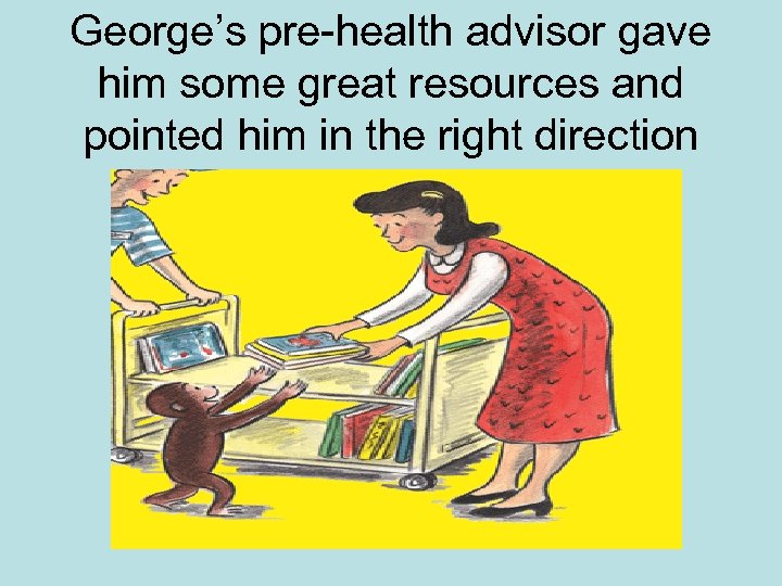 George's pre-health advisor gave him some great resources and pointed him in the right