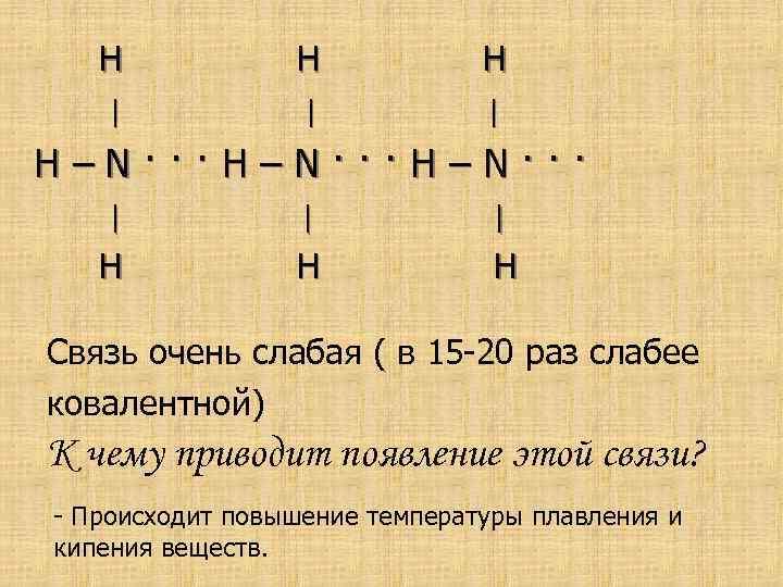 H H H | | | Н–N···H–N··· | | | H H H Связь