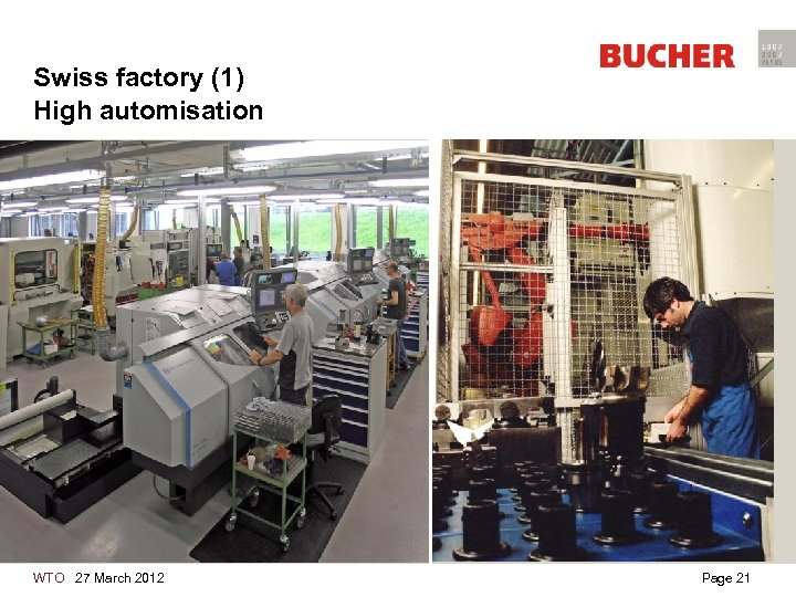 Swiss factory (1) High automisation WTO 27 March 2012 Page 21
