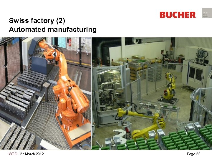Swiss factory (2) Automated manufacturing WTO 27 March 2012 Page 22