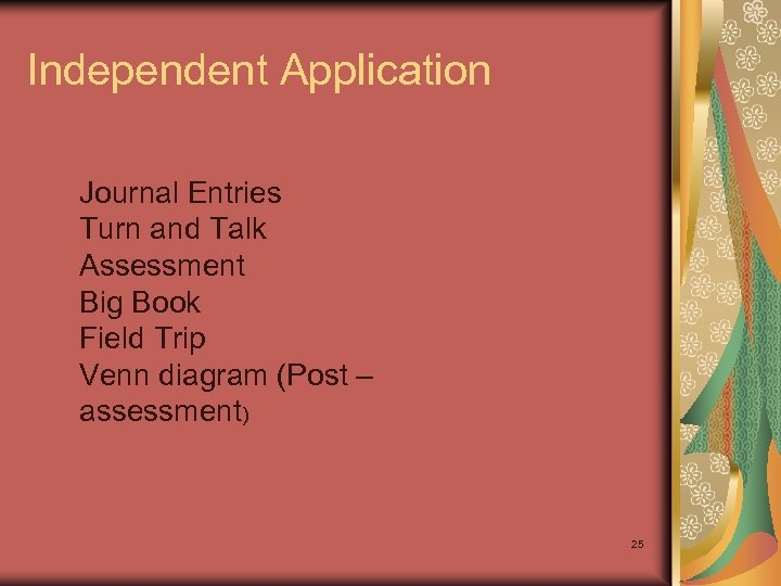 Independent Application Journal Entries Turn and Talk Assessment Big Book Field Trip Venn diagram