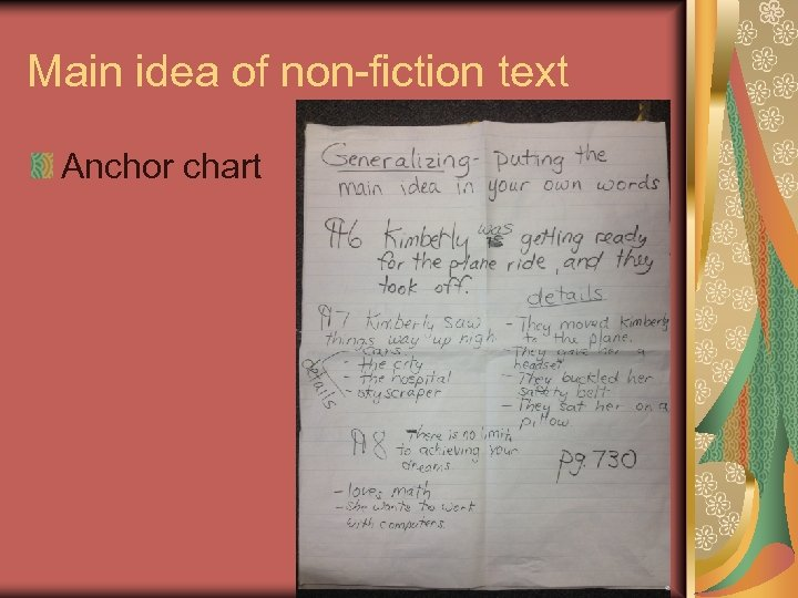Main idea of non-fiction text Anchor chart 39