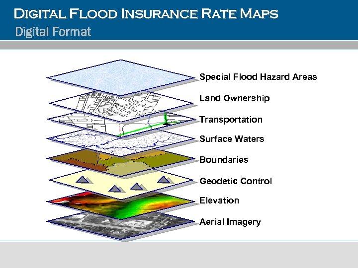 Digital Flood Insurance Rate Maps Digital Format Special Flood Hazard Areas Land Ownership Transportation