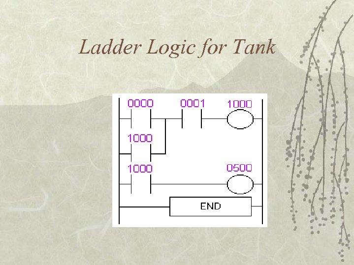 Ladder Logic for Tank