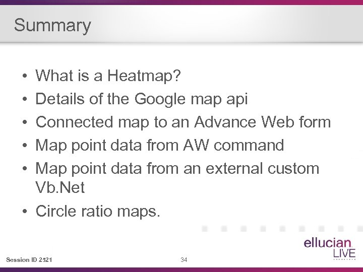 Summary • • • What is a Heatmap? Details of the Google map api