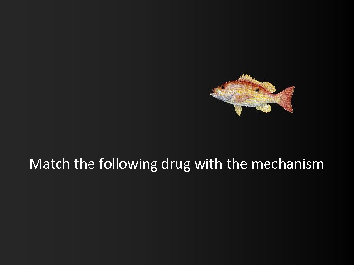 Match the following drug with the mechanism