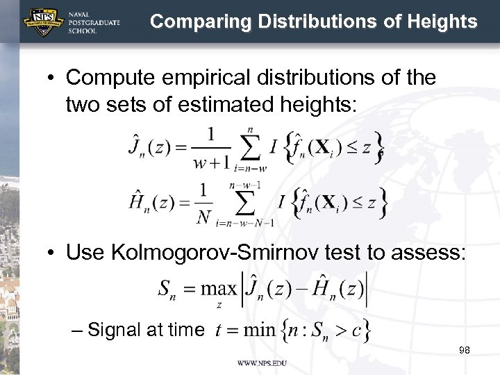 Comparing Distributions of Heights • Compute empirical distributions of the two sets of estimated