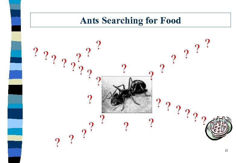 Ants Searching for Food ? ? ? ? ? ? ? ? ? ?