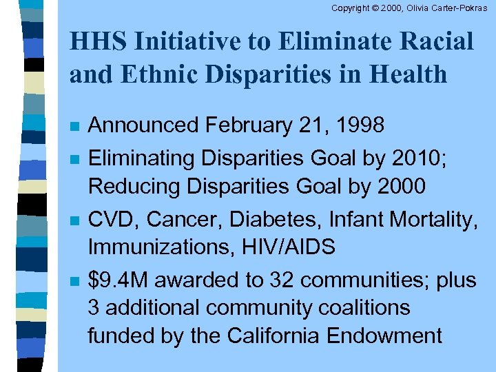 an act to eliminate racial and ethnic health disparities in the commonwealth essay The disparities action network along with critical mass and health care for all supports hb 2234 an act to eliminate racial and ethnic health and health care disparities in the commonwealth for.