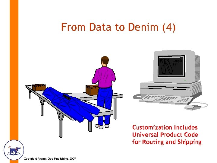 "From Data to Denim (4) Length 32"" Customization Includes Universal Product Code for Routing"
